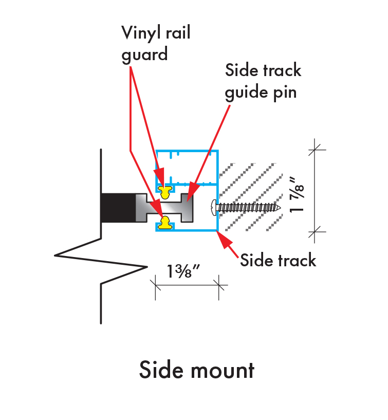 Insolroll Oasis 2800 sidetrack side mount installation diagram